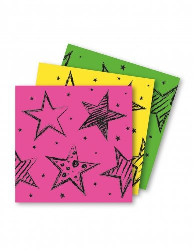 Folat 16x * Neon-SERVIETTEN * für Geburtstag oder Party Napkins