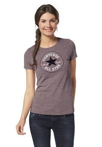 Converse Converse Core 2Color hthr CP Crew maglietta a maniche corte Rot XL (48)