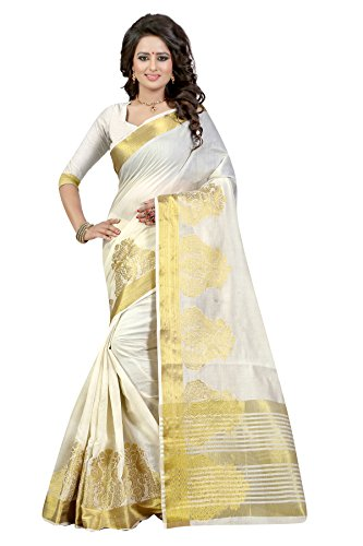 Fancy New Arrivals Cotton Silk Zari Jacquard Work Designer Saree with Blouse...