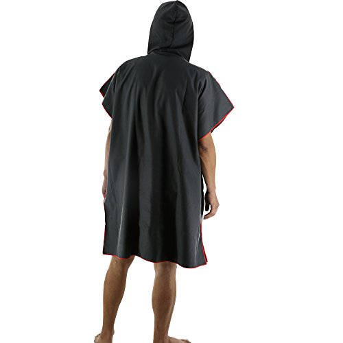 JEANNE Adulto Sin Mangas Natación Playa Surf Poncho Albornoz con Capucha para Cambiarse de ropa 31.5x43inch