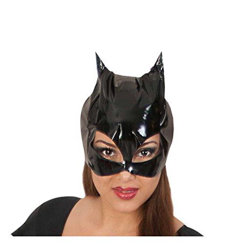 Maske Katzenlady, für Erwachsene, Universalgröße, schwarz, Katzenmaske, Superwomen, Kjarnevalszubehör, Kostümzubehor, Cat, Maske Katzenfrau