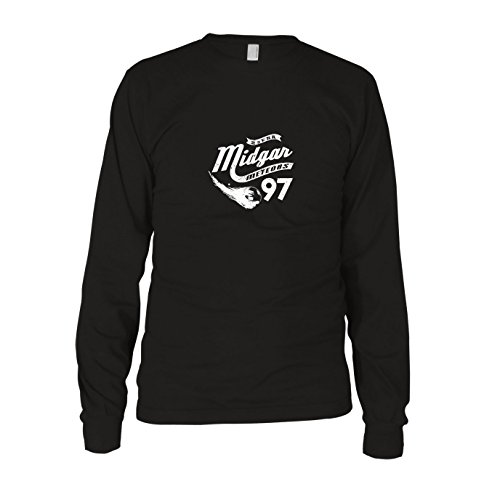 Midgar Meteors - Herren Langarm T-Shirt, Größe: L, Farbe: schwarz (Final Fantasy Chocobo Kostüm)