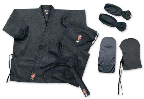 Ltd Ninja GI einheitliche für Kostüm Kleidung Ninjitsu Gear Stoff aus Baumwolle schwarz (International Fancy Dress Kostüme)