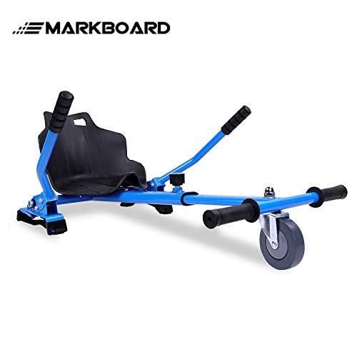 MARKBOARD Hoverkart Sitzscooter Gokart, Hovergokart, Hoverdrift hovercart, Sitz für Elektrokart Self Balancing Scooter, Kompatibel mit 6,5, 8,5 und 10 Zoll Hoverboard (blau)