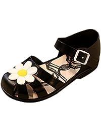 EOZY Sandales Basse Chaussures Bébé Fille Enfant Floral Soft-Soled Princesse Été Shoes