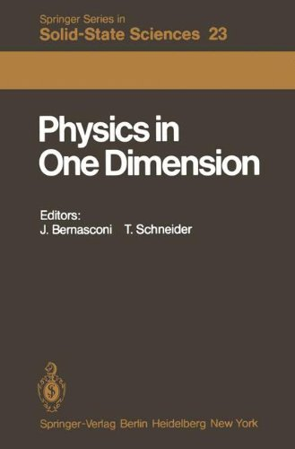 Physics in One Dimension: Proceedings of an International Conference Fribourg, Switzerland, August 25-29, 1980 (Springer Series in Solid-State Sciences, Band 23)