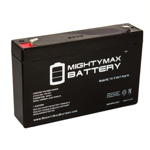 Batteria Ermetica Ricaricabile al Piombo 6V Volt 7Ah con connettore faston ideale per UPS sistemi di sicurezza Peg Perego giochi giocattoli lampada di emergenz