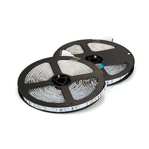 Preisvergleich Produktbild SODIAL(R) 2x5m 10m 3528 SMD 600 LED Lichterkette Lichtleiste RGB +Fernbedienung