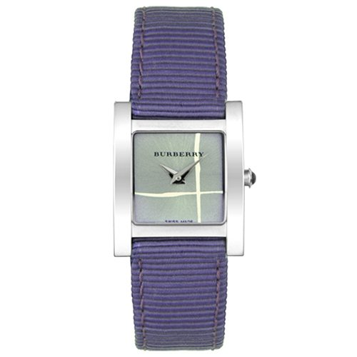 Burberry bu4309–Montre avec bracelet en cuir pour femme, couleur argent/gris