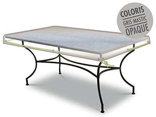 Jardideco - Housse de protection pour table rectangulaire 210 x 100 x10 cm LUXE