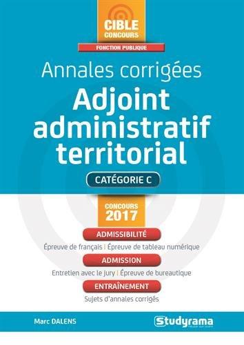 Annales corrigées adjoint administratif territorial