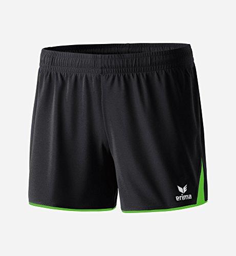 erima Damen Classic 5-C Shorts, schwarz/Green Gecko, 36