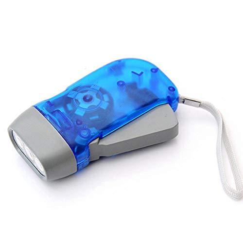 Payne Roosevelt Hand-Taschenlampe mit PressingLED-Kurbel und Dynamo, zum Aufziehen blau