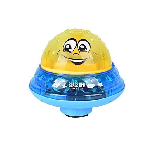 Matedepreso Kinder Elektrische Spray Ball Dusche Bad Spielzeug Wasser Splash Ball Spielzeug Mit Licht Für Kinder Baby Bad Spielzeug Sommer Pool Spielzeug(No Base,Gelb)