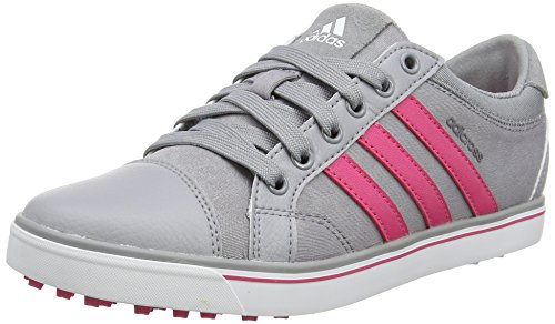 adidas W Adicross IV - Zapatos de Golf para Mujer, Color Blanco/Gris/Rosa, Talla 36