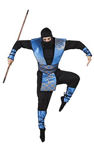 änner Hochwertiges Kostüm Royal Ninja, Blau, Größe XL (Männer Dienstmädchen-kostüm)