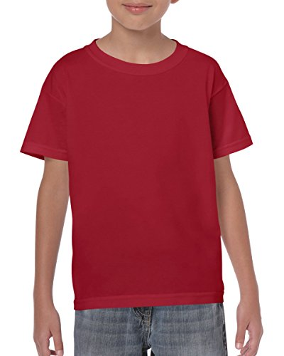 Gildan Kinder Schwere T-Shirt, 31Farben, 5Größen Gr. Medium, Rot - Cardinal Red (Kinder-cardinal Red T-shirt)