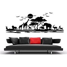 Wandtattoo Wandaufkleber Aufkleber Wandsticker Wall Sticker Wohnzimmer  Schlafzimmer Kinderzimmer Kueche Kuche 30 Farben Zur Wahl Afrika