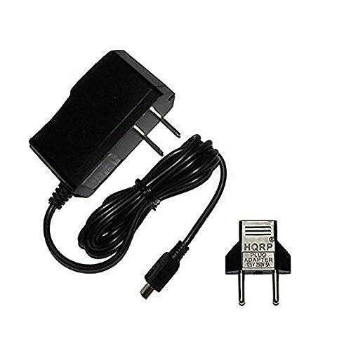 HQRP AC Adaptateur Secteur / Charger pour Garmin Nuvi 1240 1250 1260T 1300 1350 1370 1450 1490T 1690 1695 GPS Navigateur