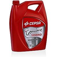 CEPSA GENUINE 10W40 (5L) Lubricante semisintético para vehículos gasolina y diésel