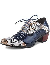 Zapatos de Moda de los Hombres, Zapatos de Vestir de Punta Estrecha, Zapatos de Cordones de Charol, Zapatos de Negocios de Banquete, Zapatos de los Hombres Casuales de tacón Alto