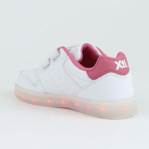 XTI Unisex, bambini Zapato Niño/a. C. Blanco . Scarpe da Ginnastica Basse Bianco