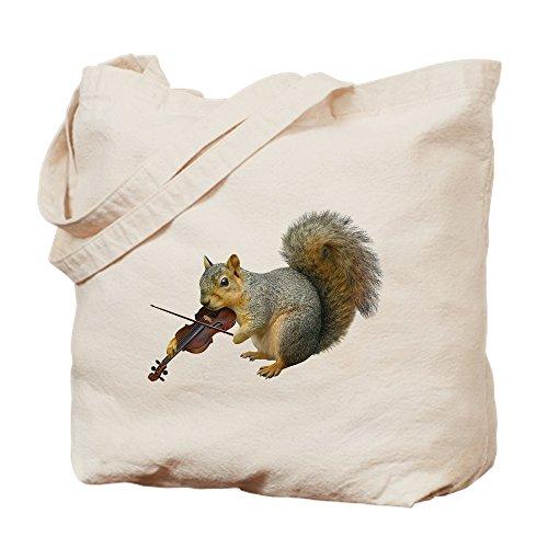 CafePress Tasche für Violine mit Eichhörnchen, canvas, khaki, S