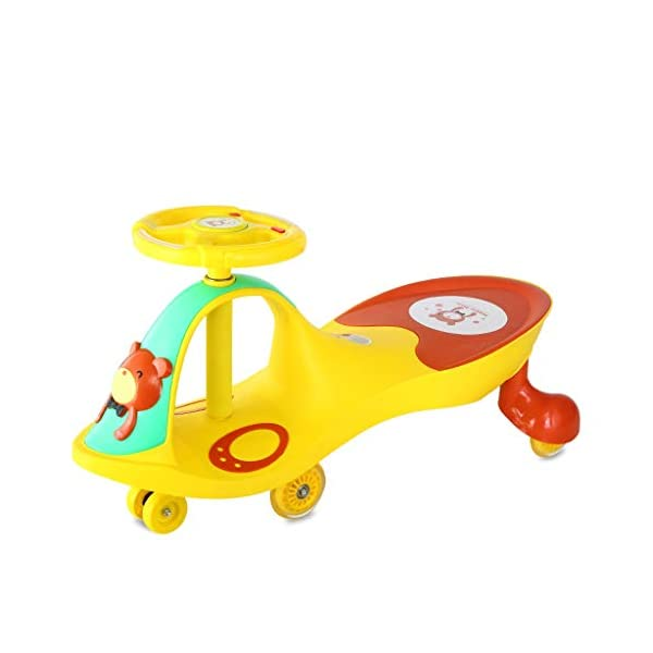 Twist car Swing car Children Yo Car Baby Swing Car Universal Wheel 1-3-6 Year Old Scooter FANJIANI (color : Yellow, Size : Mute wheel) Twist car ▶Tip: The delivery time of the product is 8-15 days, If you have any questions, please feel free to contact us ▶Environmental PP material, non-toxic, no odor, anti-drop, shockproof, baby play more assured ▶ Let the baby stimulate the left and right brains by grasping the grasp, promote the development of the cerebellum, support the body's lower body strength, maintain the stability of the body's center of gravity, and exercise the baby's balance ability. 1
