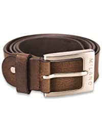 "Mens Full Grain Leather Belt 1.25"" in Black or Mid Brown / All Sizes"