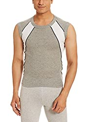 Force Go Wear Mens Cotton Vest (8902889502670_MFCF-007_Large_Grey Melange)
