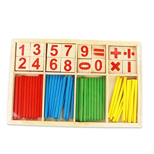 Hölzerner Zahlenstab Montessori-pädagogisches Spielzeug, das Spielzeug-hölzerne Digital-Karte berechnet und Stock-frühe Kindheits-Bildungs-Digital-Tablet zählt