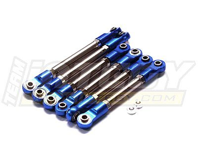 Integy Hobby RC Model T8072BLUE Titanium Turnbuckle Set (6) for Traxxas 1/10 Rustler & Stampede 2WD