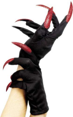 DOXMAL Handschuhe Halloween Weiße Nägel Mini Lustige Requisiten Falsche Nagel Sets Hexe Scary Cat Für Frauen Männer Phantasie Kostüm Party - Scary Kostüm Männer