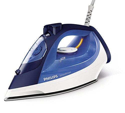 Philips GC3580/20–Fer à repasser à vapeur, semelle en céramique, 2m, 160g/min, bleu, blanc, 40g/min