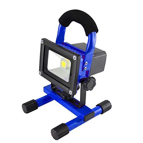 FROADP LED AKKU Blau Baustrahler Fluter Campinglampe Nachtfischen nächtliche Handlampen wiederaufladbar Flutlicht Arbeitsleuchte (10W Kaltweiß)