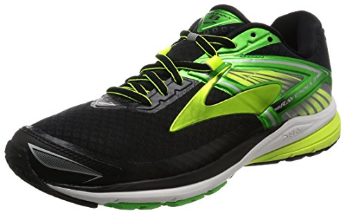 Brooks Ravenna 8, Zapatos para Correr para Hombre, Multicolor (Black/Classic Green/Nightlife), 44.5 EU