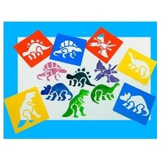 Anthony Peters Waschbare Dinosaurier-Schablonen aus Kunststoff (6 Stück)