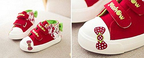 Ohmais Enfants Filles Garçon Chaussure de loisir chaussure de sport souliers Rouge