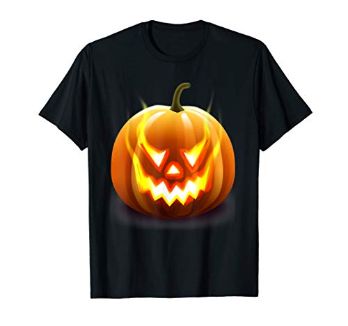 Green Lantern Kostüm Halloween - Happy Halloween Kürbis Jack O 'Lantern Face Flames Kostüm T-Shirt