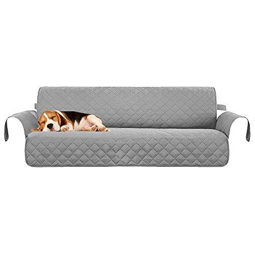 AOLVO - Funda Protectora para sofá de 3 plazas, Antideslizante, Impermeable, Acolchada, con Correas elásticas, 172,8 x 182,9 cm