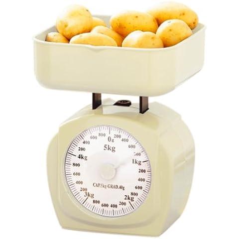 Premier Housewares 0807208 Bilancia da Cucina, Plastica Crema, 5