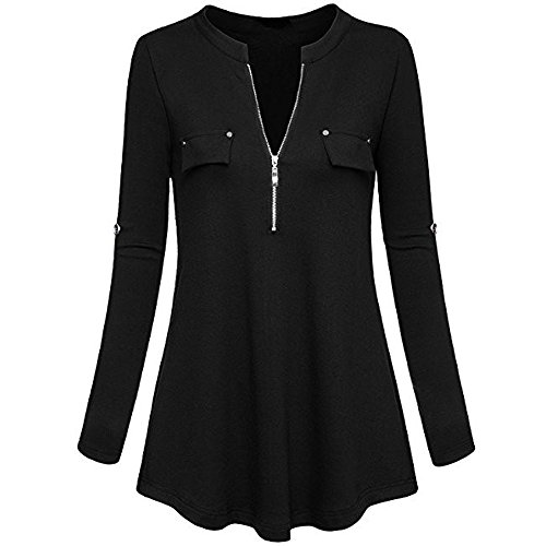 Closhion Maglia a manica lunga - Donna Black