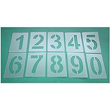 Zahlen 0-9 10 einzelne Schablonen 3cm hoch Zahlen-Schablonen-Set 003503