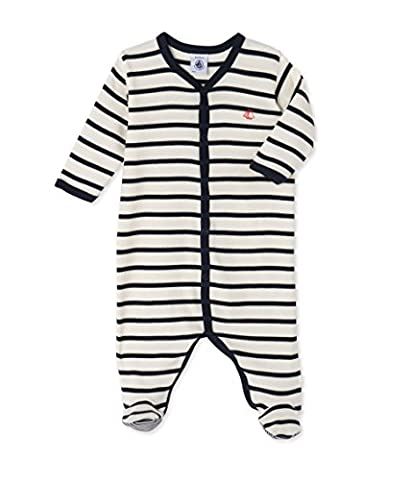 Petit Bateau Baby Boys' Felicity Sleepsuit, Multicoloured (Coquille/Smoking), 0-6 Months