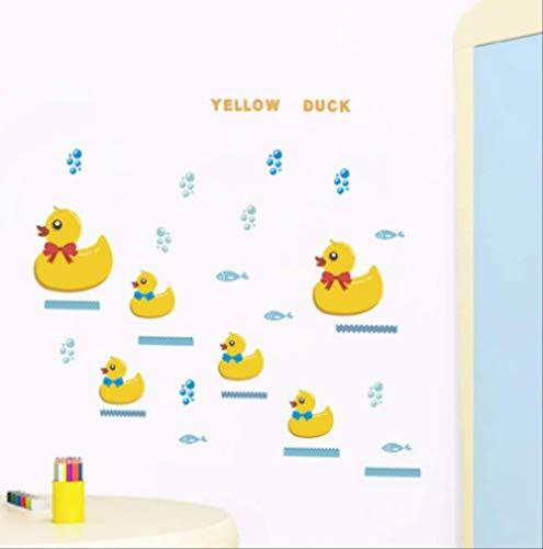 Cartoon Gelbe Ente Wand Aufkleber Kinder Zimmer Schlafzimmer Schlafzimmer Kunst Home Dekoration Tiere Abziehbilder Diy Wallpaper Diy Wandbild -