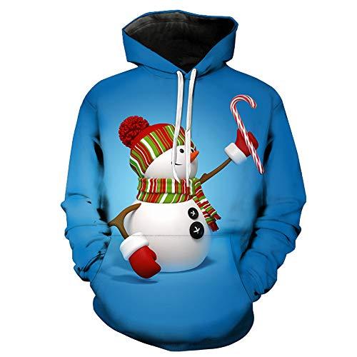 Frashing Unisex Hoodie Sweatshirt Hoodie Männer Kapuzenpullover 3D Print Langarm Pullover Mantel Winter Herbstliche Weihnachten Kostüm, viele Farben, M-5XL