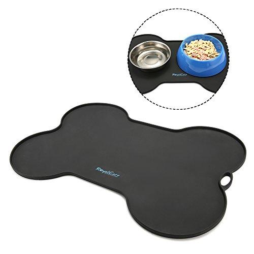 RoyalCare Silikon Futtermatte für Hund, Premium Napfunterlage aus Silikon für Katze oder Hund Rutschfest & Wasserdicht Anti-Rutsch Tiernahrung-Matte