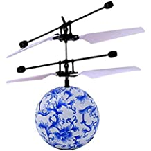Tefamore-Educación Juguete, RC Flying Ball Drone helicóptero bola incorporado en brillo de iluminación LED