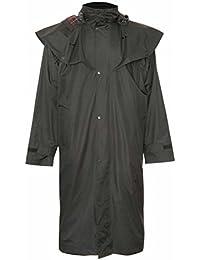 Longe veste pour homme Veste d'équitation imperméable avec doublure à carreaux à l'intérieur