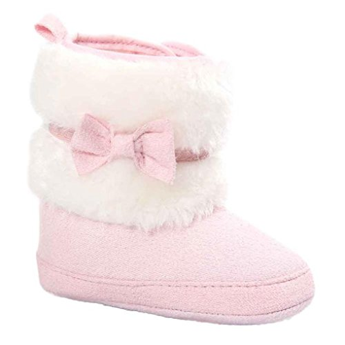 JYJMBaby Bowknot Keep Warm Soft Sole Snow Boots Soft Crib Shoes Toddler Boots (Größe: 13, (Kleinkind Prinzessin Shoes)
